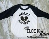 Heart Breaker Raglan Style T-Shirt