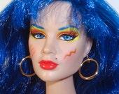 1:6 scale fashion doll gold hoop earrings