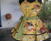 Autumn on the Farm Hostess Apron - ruffledfrenzy