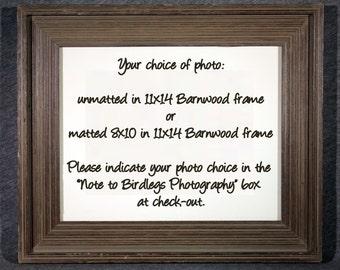 11x14 Barnwood Frame - Your Photo Choice
