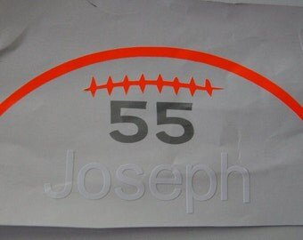 Football Car decal with your child's name.. Customize your own