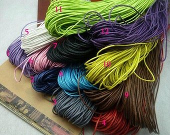 220feet 1.5mm 12 different Color  (can choose) weave rope string for bracelet jewelry