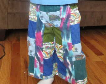 Patchwork hippie style kids pants