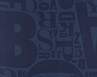 Sale Social club navy fabric from the Comstocks for Moda fabric 37094 21
