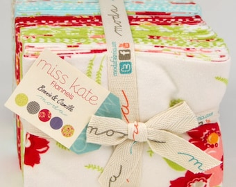 Miss Kate flannel fat quarter bundle by Bonnie and Camille for Moda fabric