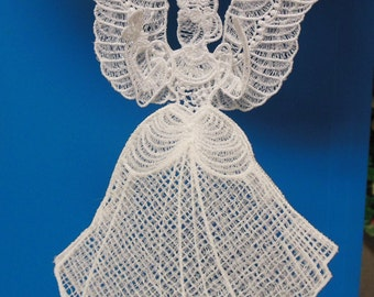 Beautifyl lace angel 3-D ornament
