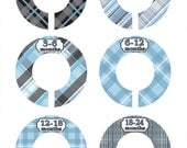 Blue Closet Dividers, Baby Shower Gift , Blue Closet Organizers, Baby Closet Dividers, Baby Gift