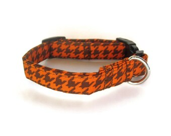 Houndstooth Dog Collar size Extra Small