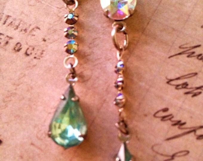 Earrings for Women, Swarovski Earrings, Crystal Earrings, Aurora Borealis Earrings