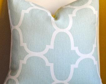 Designer Pillow Cover -20x20-LINEN- Riad-Seafoam-Kravet-Morocco Pillow