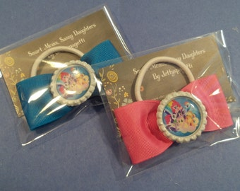 My Little Pony Hair bow- Hair clips or Ponytail holders- choose your bow color