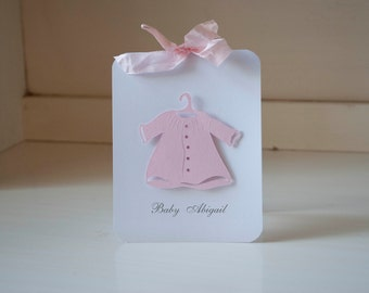 Baby Shower Invitations Baby Girl Dress Layette Invites Thank You Cards Pink and White