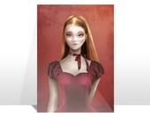 """Postcard """"Celine"""" (Cameo Portrait)"""