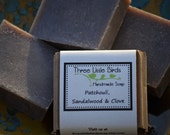 Patchouli, Sandalwood, and Clove Soap, Handmade, All Natural, Cold Process Soap, Vegan, Hippie