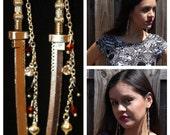 Walking Dead Inspired Michonne Samurai sword dangle earrings Blood Zombies