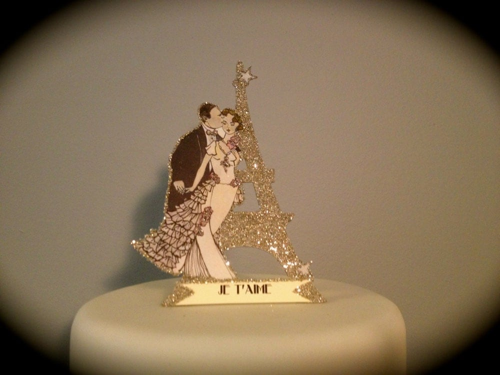 Parisian Wedding Cake Toppers