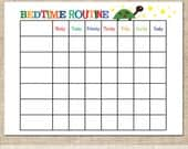 Printable Instant Download Boys Bedtime Routine, Behavioral Chart, Chore Chart, Schedule