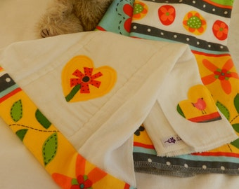 Receiving Blanket & Burp cloth set