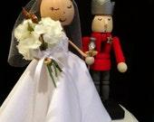 Custom Holiday Wedding Cake Topper