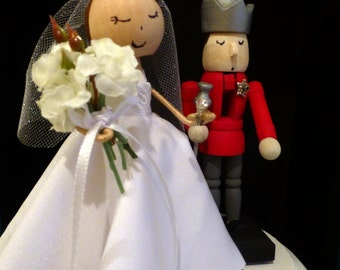 Custom Holiday Wedding Cake Topper