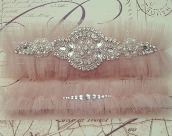 Rhinestone Wedding Garter Belt- Garter set, gift for bride, bridal shower gift, honeymoon, Rhinestone Garter, Princess Bride, Lingerie