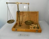 Antique Brass Apothecary Scale Medical Scale West Germany