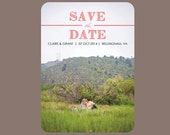 Polka Dot Save The Date, Printable Wedding Save The Date