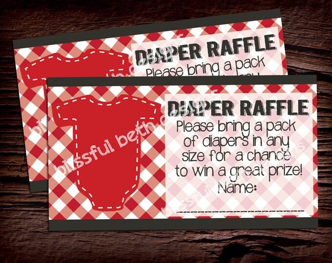 BABY-Q DIAPER RAFFLE Baby-Q Diaper Raffle Ticket, Diaper Raffle Ticket, Shower Diaper Raffle, Baby-Q