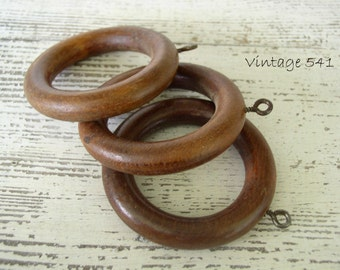 Vintage Wooden Curtain Rings Wooden Drapery Rings