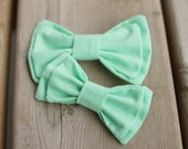 Coral bow tie, clip-on bow tie, vintage wedding bowtie, men's bow tie, mint green bow tie, mustard yellow bow tie, teal bow tie