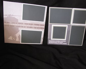 Pre-Made Army Scrapbook Page - 3