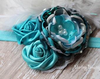 Elsa Frozen Inspired Rosette Headband
