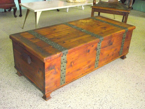 Larkin Solid Cedar Chest Storage Trunk Coffee Table Rustic