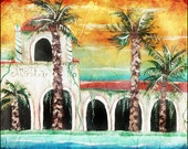 Hotel California,hotel california painting,poster,the eagles,the eagles art, wall, home decor,modern,abstract,don henley,joe walsh,pop art,
