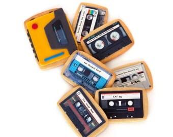 walkman and custom tapes cookie gift box (7 cookies)