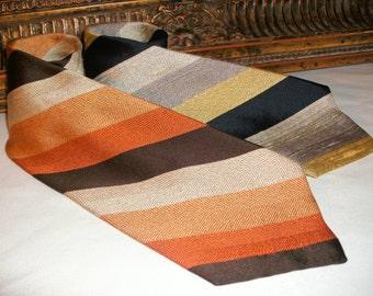 Vintage 1970's Bullock & Jones Striped Neck Ties