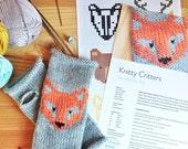 Knitty Critters Woodland Knitting Pattern PDF Colour Chart Fair-isle Duplicate Stitch