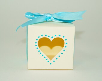Favor Box, Heart Treat Box, Wedding Favor Box, Party Box, Place Holder Box, Heart Window Box, Treat Containers, Gift Boxes,Valentine Boxes
