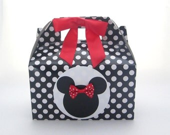 Set of 5 Red Minnie Mouse Party Favor Boxes