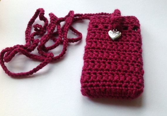 Crochet Cell Phone Purse : Crochet Sokie Dokie Cell Phone Pouch, cellphone bag, cellphone purse ...