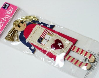 Patriotic Flag Girl Jolees By You 3D Embellishment Scrapbooking Cardmaking 3-Dimensional Red White Blue Americana, Crafting itsyourcountry