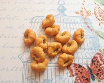 10pcs clay mini Croissants miniature