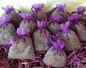 12 Lavender Sachets, FRAGRANT Lavender buds Sachets/favors, lavender filled organza bags..Low Ship!
