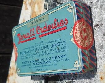 Rexall Orderlies Laxative Tin
