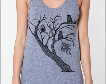 Owl Dreamcatchers Block print Tank Top Unisex Tank Top Men's Women's American Apparel Tank