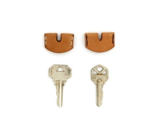 Leather Key Cover - Natural