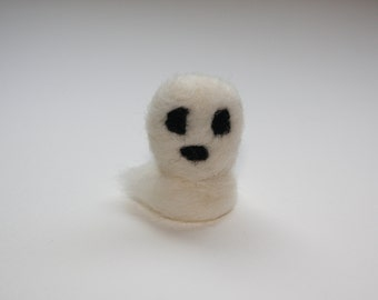 Small Ghost needle felted