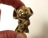 Miniature brass mouse