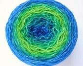 Gradient Sock Yarn - Superwash Merino / Nylon 4-ply Fingering Weight in Great Barrier Reef Colorway