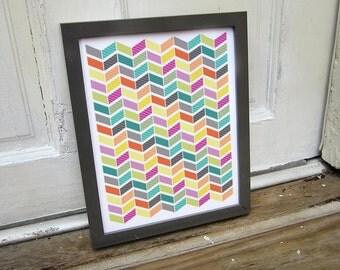 Colorful Chevron Art Print